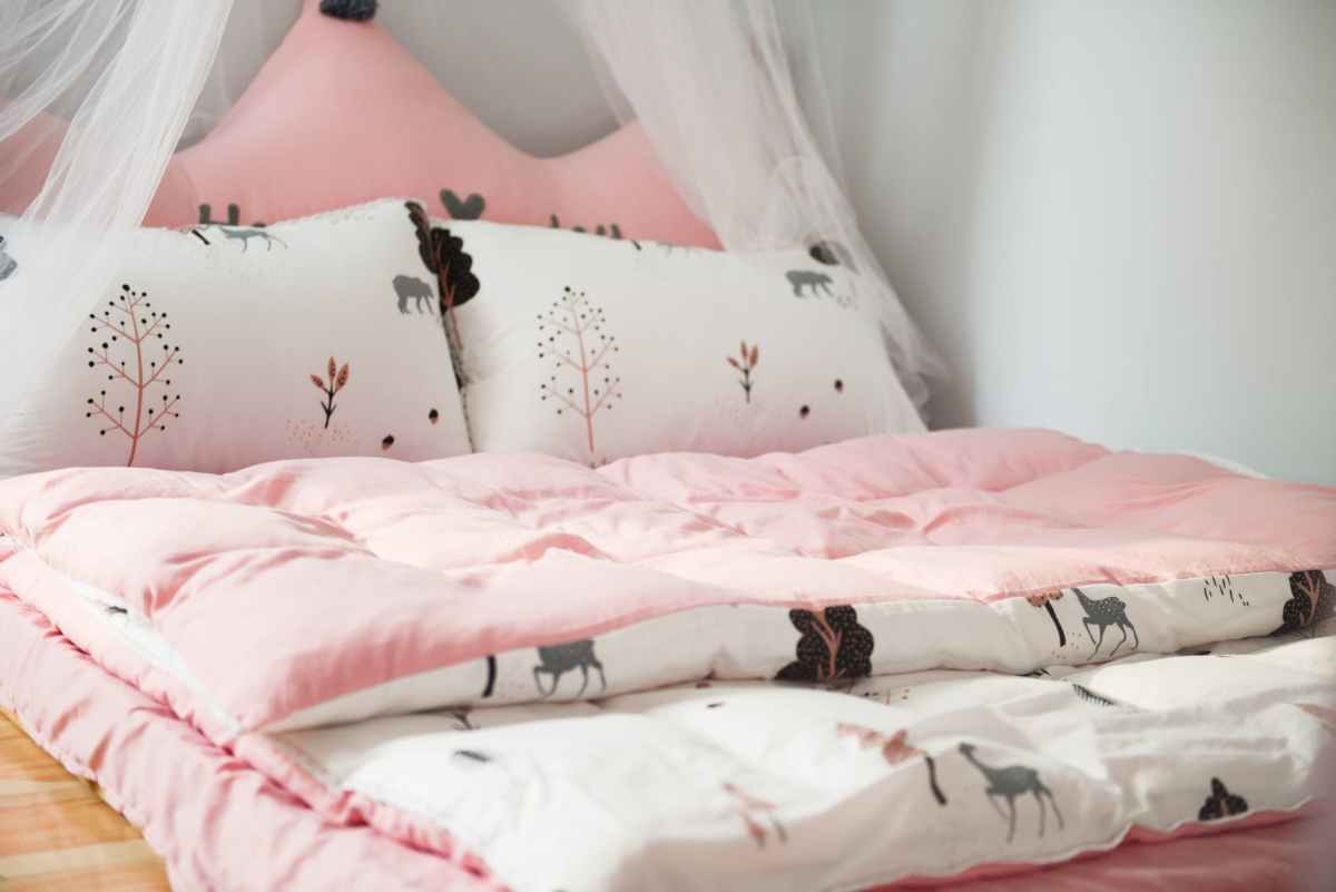 photo of printed bed linen